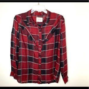 < Jessica Simpson Red Flannel Medium >